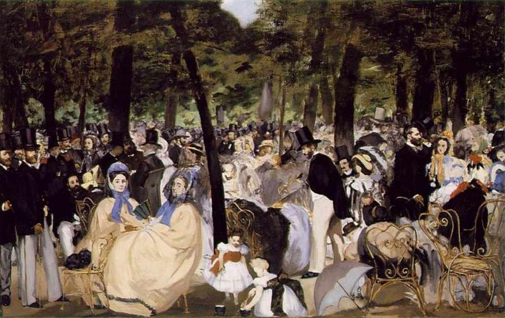 Édouard Manet - Zene a Tuilériák kertjében (1860)