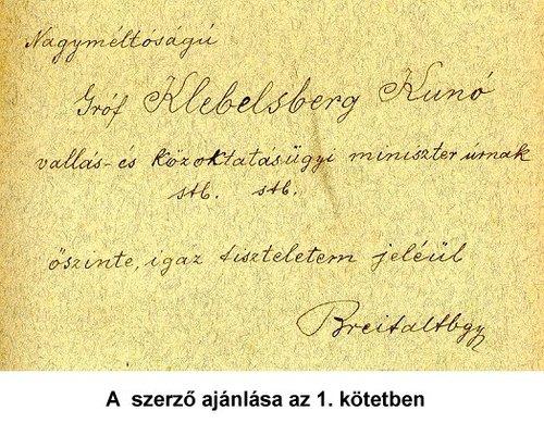 Bánlaky József ajánlása Klebelsberg Kunónak.