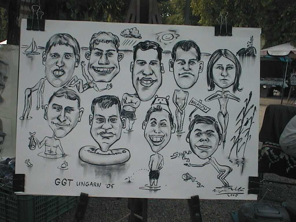 Karikatúra. Füred, 2005