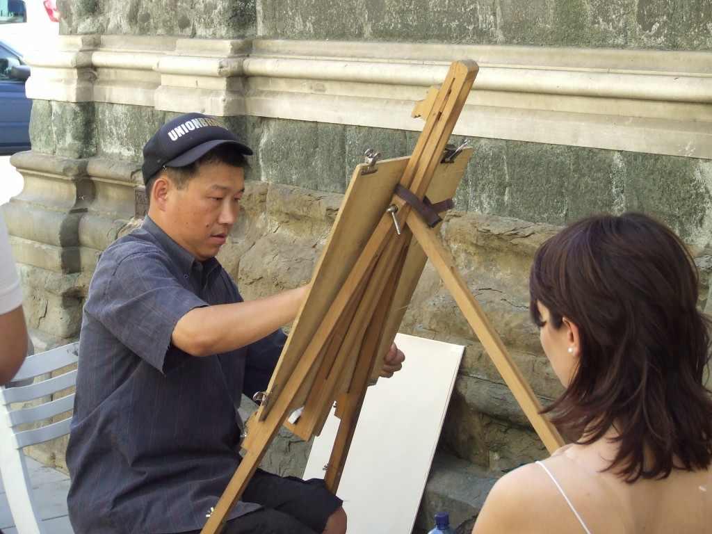 Illegális rajzoló. Firenze, 2004.