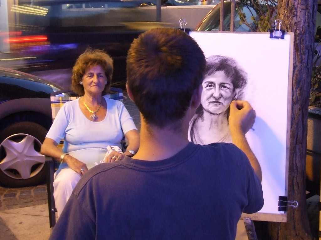 Rajzolás az utcán. Rimini, 2007