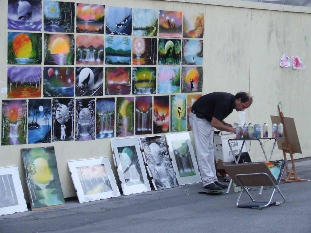 Spray-vel dolgozó. Viareggio, 2007