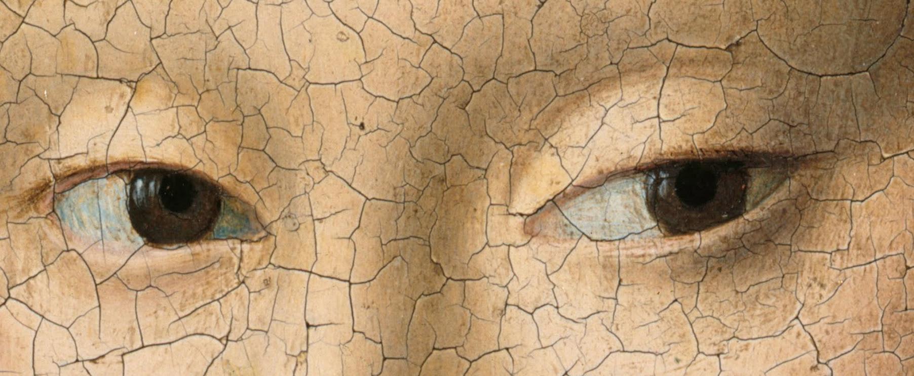 Az eredeti Petrus Christus-képen szereplő lány szemei