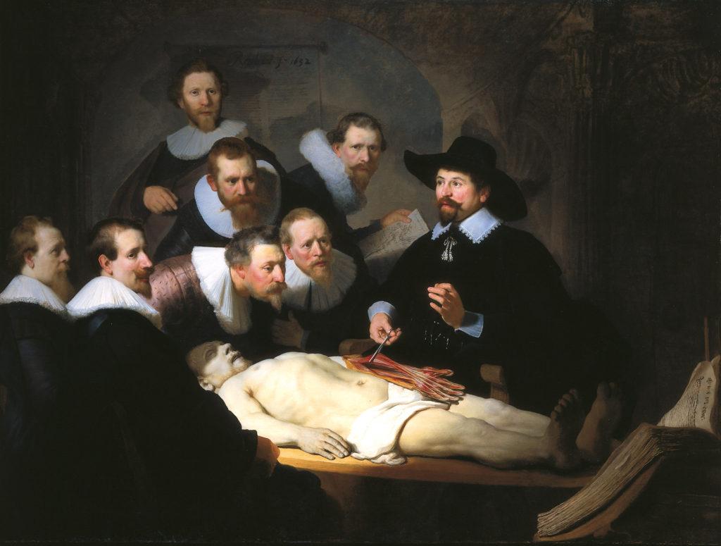 """""""Anatómiaszínház"""" (Rembrandt: Tulp doktor anatómiája, 1832)"""