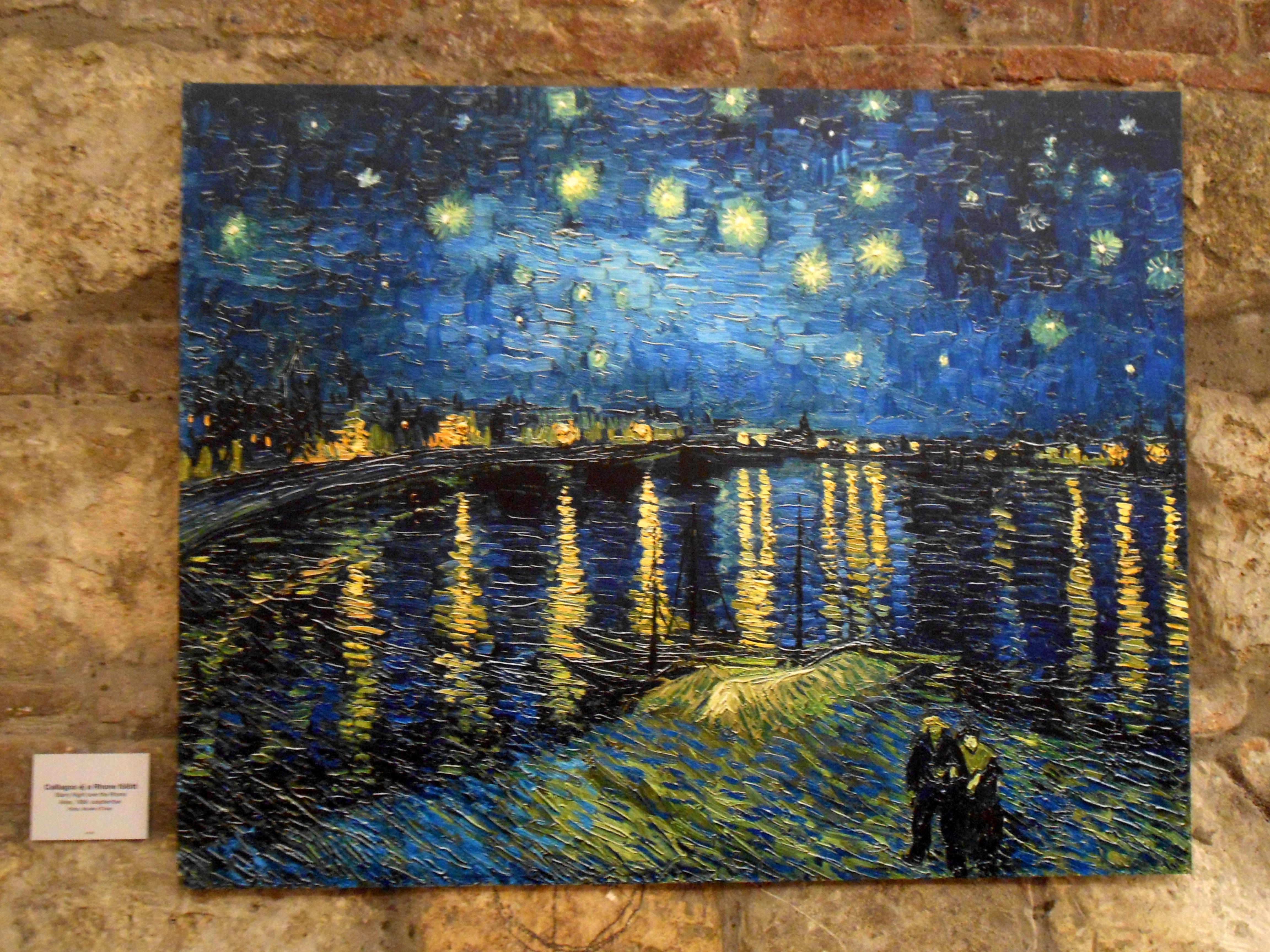 Csillagos éj a Rhone fölött, 1889