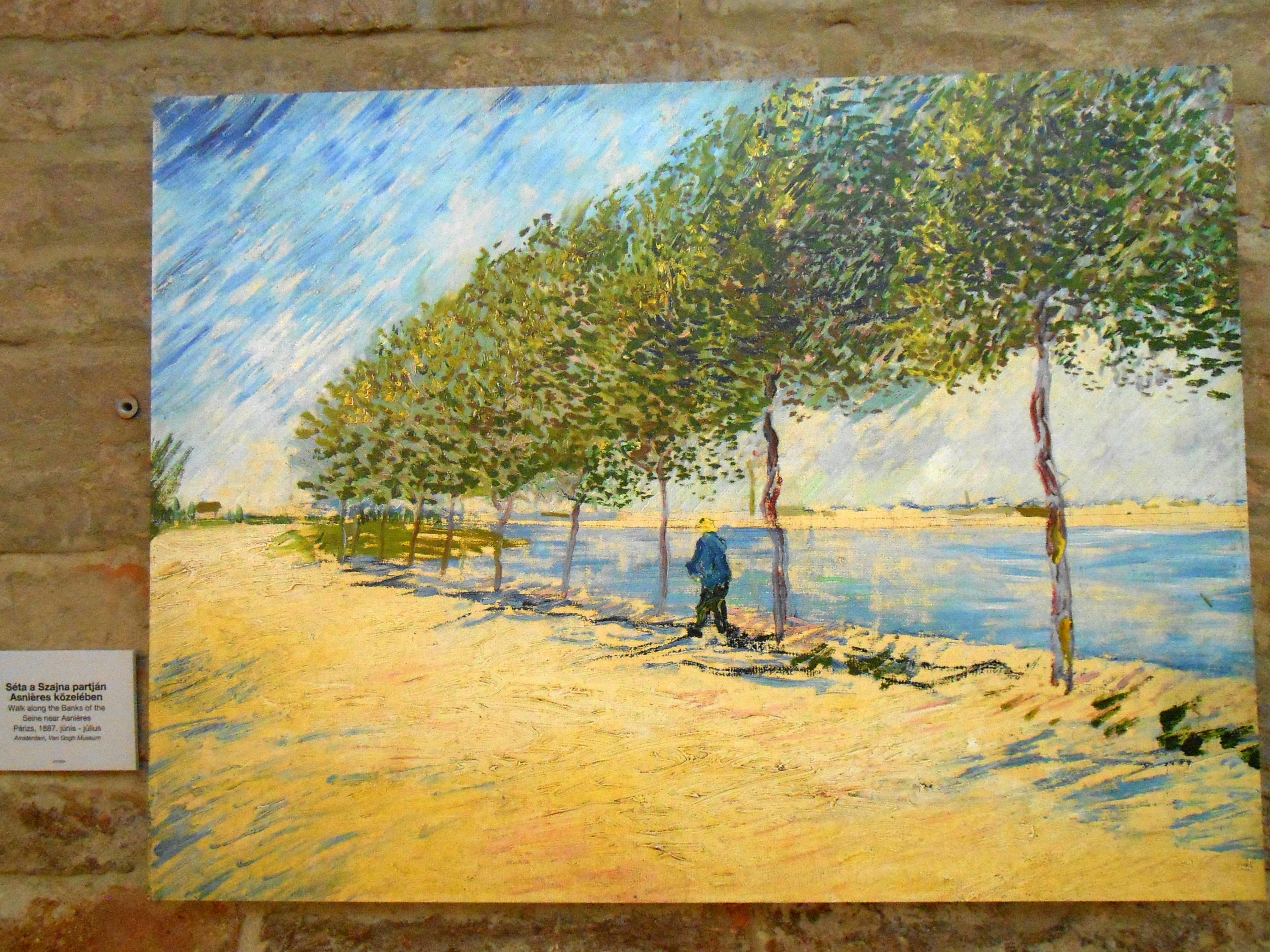 Kép6.séta a szajna partján Asnieres közelében 1887