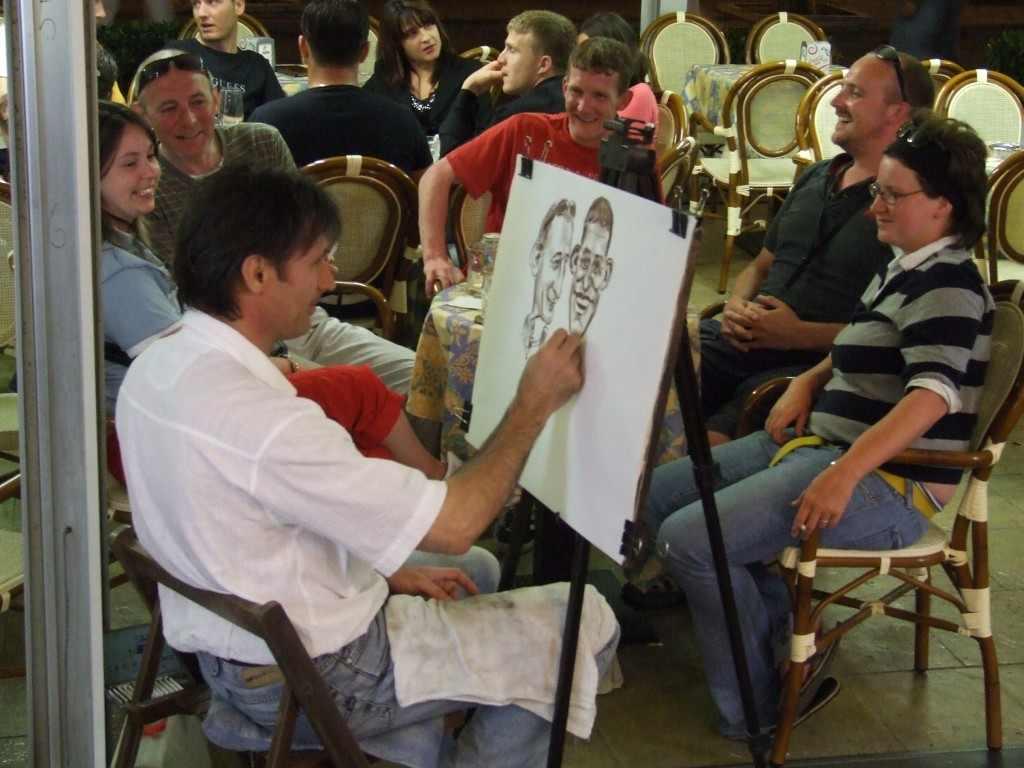A hatás. Asztaltársaság, Viareggio, 2007