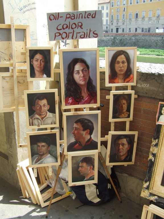 Profi utcai művész. Firenze, 2008