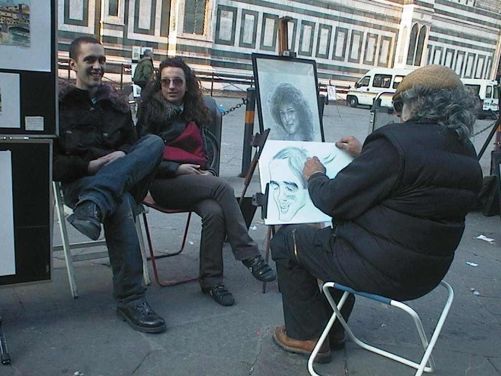 Rajzolás az utcán. Firenze, 2007