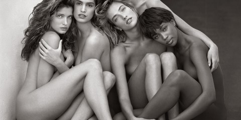 Herb Ritts: Stephanie, Cindy, Christy, Tatjana, Naomi, 1989. Museum of Fine Arts Boston.